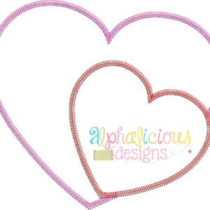 Valentine's Sweet Heart Applique Design- ZigZag