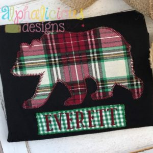 Black Bear Applique-Blanket