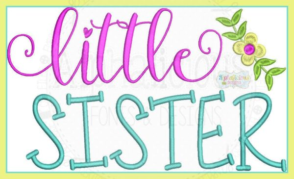 Little Sister Laurel Embroidery