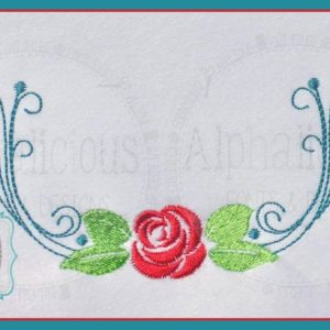 Elegant Rose Beauty and The Beast Inspired Monogram Swag