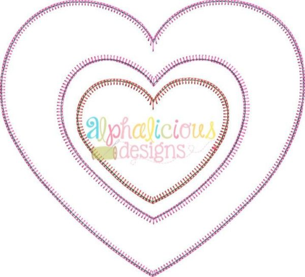 Valentine's Double Heart Applique Designs - Blanket