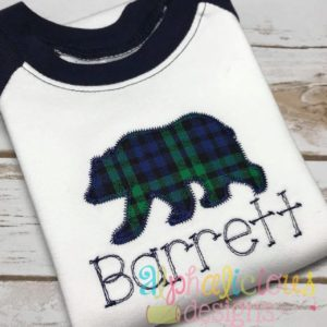 Black Bear Applique-Zig Zag