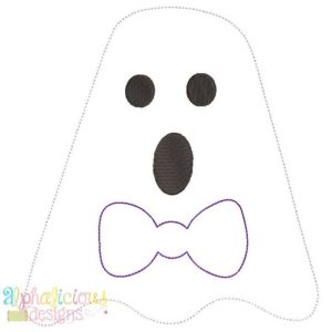 Mr. BOO-Tie- Triple Bean-Applique Design