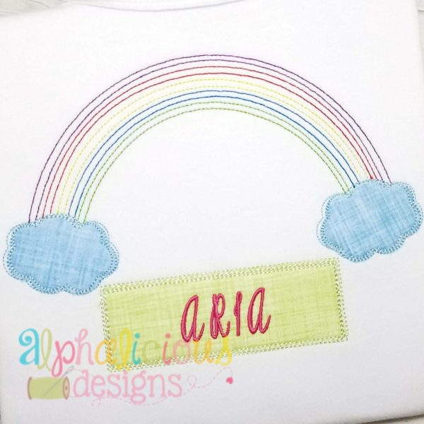 Vintage Rainbow Applique-Triple Bean