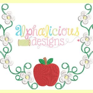 Apple Blossom Laurel Monogram Frame