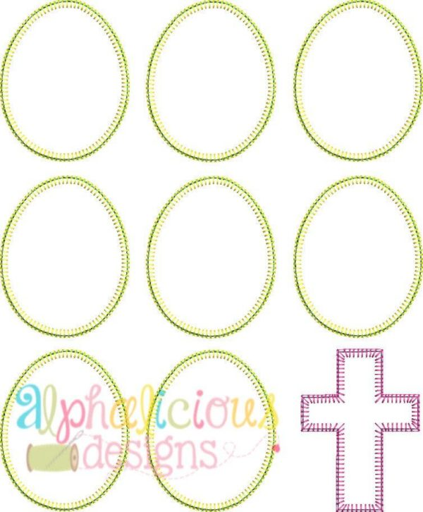 Easter Egg Bunch Applique - Blanket