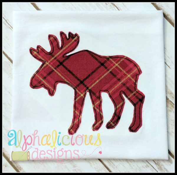 Woodlands Moose Applique-Triple Bean