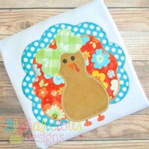 Mrs. Gobble Gobble- Blanket-Applique Design