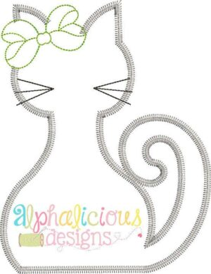 Silly Mrs. Kitty-ZigZag-Applique