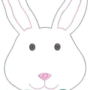 Mr.Bunny with Bow Tie Applique -Triple Bean