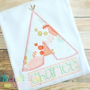 Teepee-Blanket-Applique Design