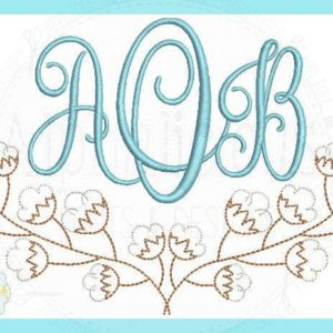 Vintage Cotton Monogram Swag MINI