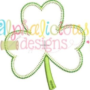 Shamrock Three In A Row Applique - Blanket