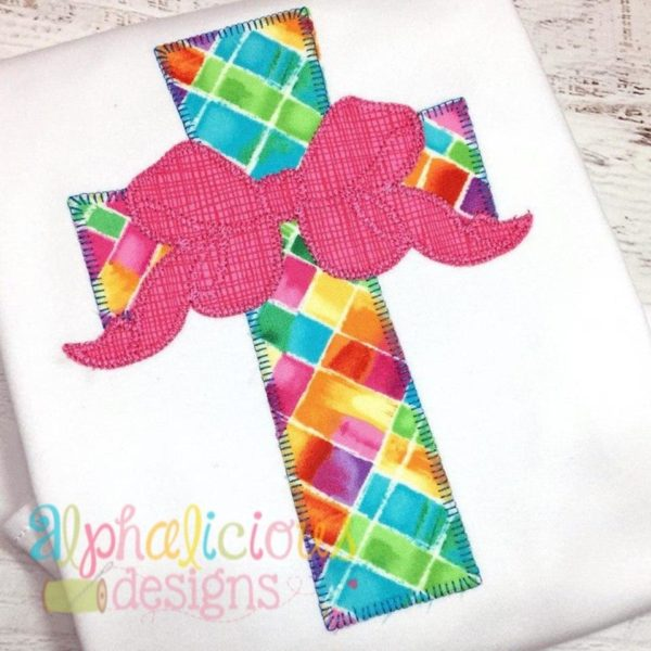 Cross with Bow Applique- Blanket