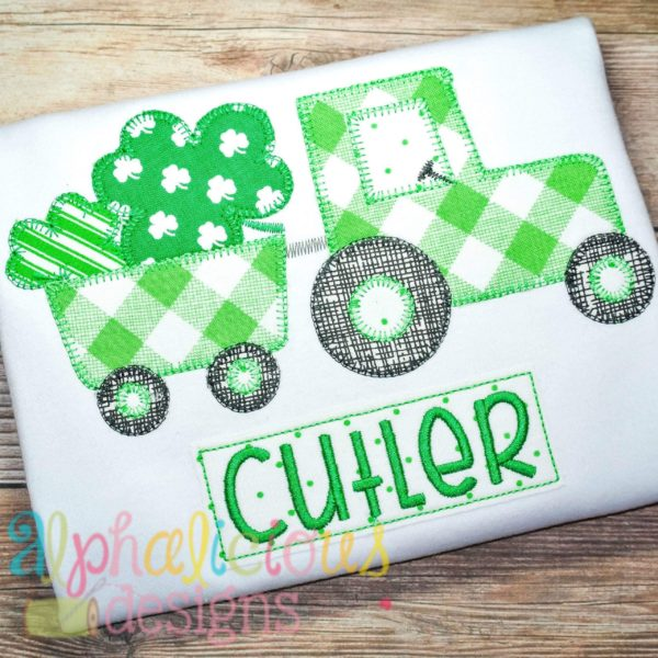 St Patrick's Day Tractor- Blanket