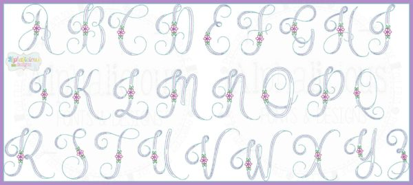 Vintage Daisy Embroidery Font