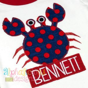 Crab Applique - Blanket