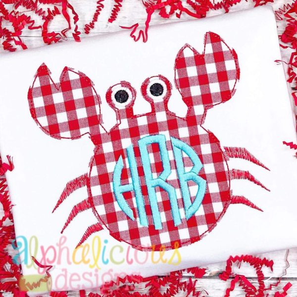 Crab Applique - Triple Bean