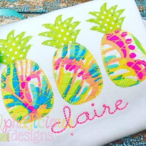 Pineapple Three In A Row- Blanket