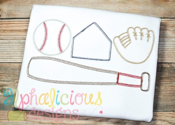 Baseball Gear-Vintage Scribble