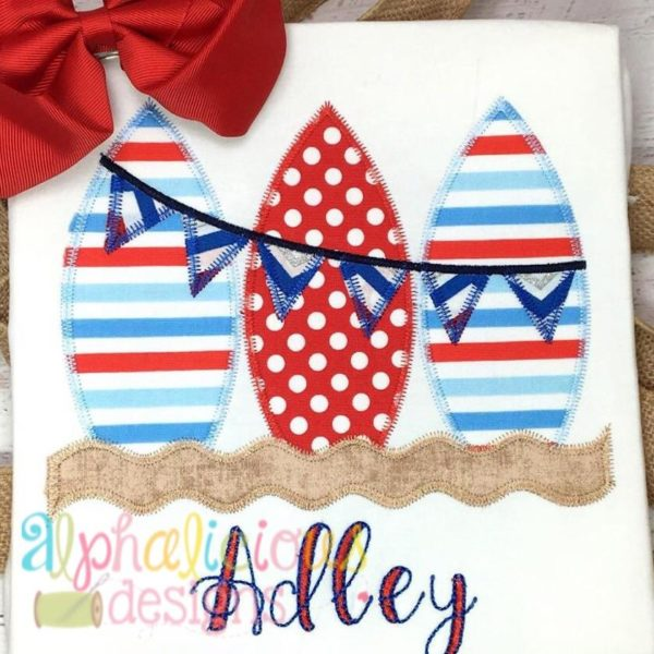 Surf Boards With Bunting- Zigzag