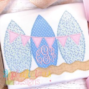 Surf Boards with Bunting- Triple Bean