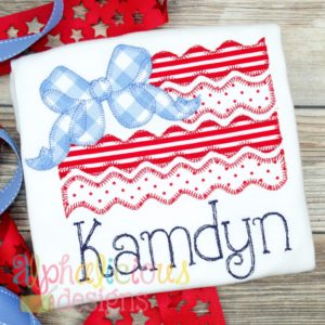 Big Bow Patriotic Flag - Blanket