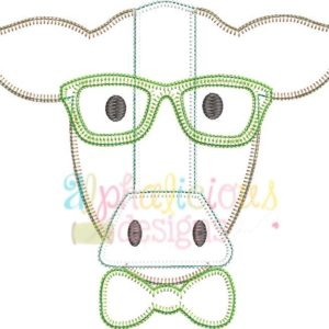 Mr. Cow With Glasses- Blanket