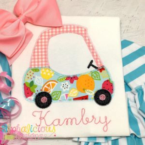 Cozy Car Applique- ZigZag