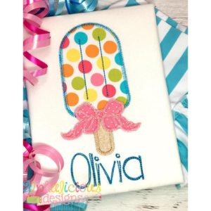 Popsicle with Bow Applique - ZigZag