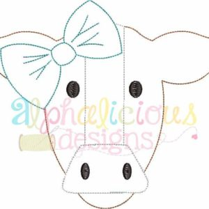 Mrs. Cow With Bow- Triple Bean