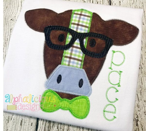 Mr. Cow With Glasses- Zig Zag