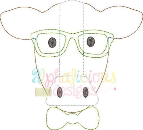 Mr. Cow With Glasses- Triple Bean