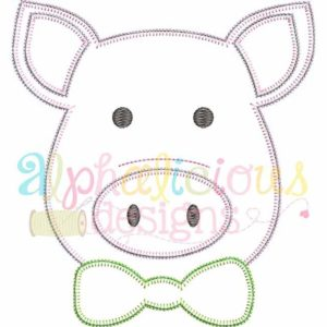 Mr. Pig With Bow Tie- Blanket