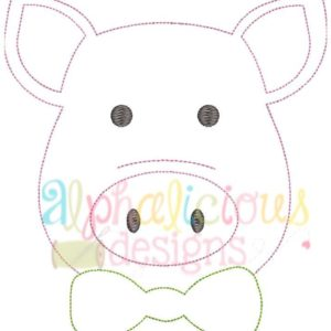 Mr. Pig With Bow Tie- Triple Bean