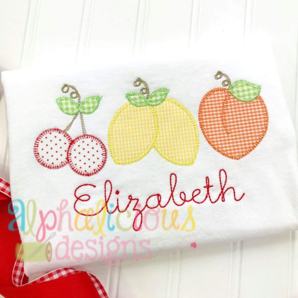 Southern Charm Fruit Three in a Row- Blanket