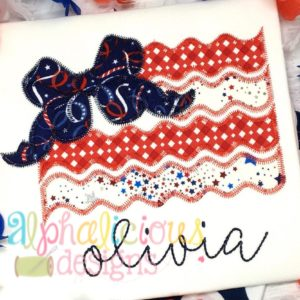 Big Bow Patriotic Flag - ZigZag