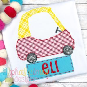 Cozy Car Applique- Triple Bean