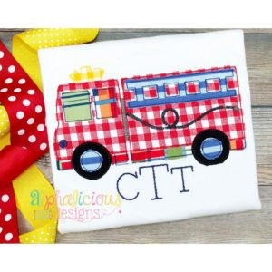 Fire Truck Applique- Triple Bean