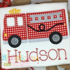 Fire Truck Applique- ZigZag