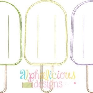Popsicle Three In a Row - Vintage Scribble