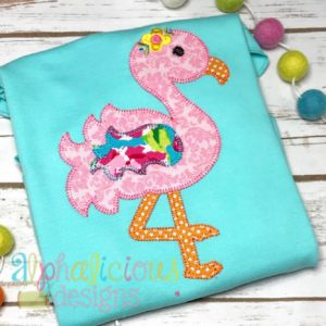 Sweet and Sassy Flamingo Applique- Blanket