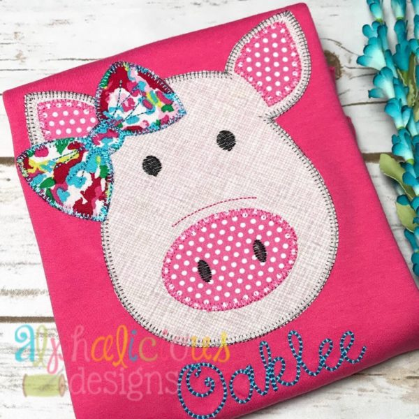 Mrs. Piggy with Bow- Blanket