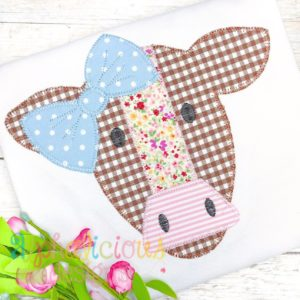 Mrs. Cow With Bow- Blanket