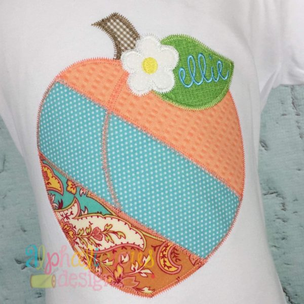 Patchwork Peach with Flower - ZigZag
