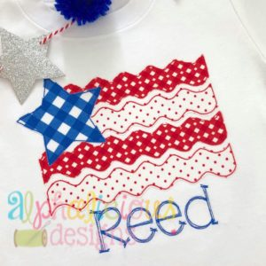 Star Spangled Patriot Flag- Triple Bean