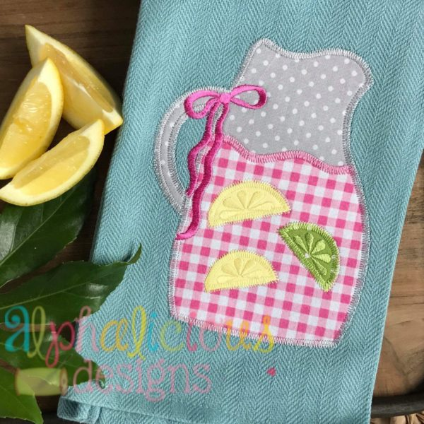 Sweet Summer Time Lemonade Pitcher-Zigzag