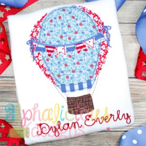 Up Up and Away Balloon with Bows - Triple Bean