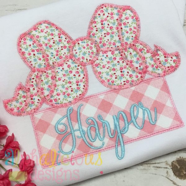 Southern Girl Applique Bow-ZigZag