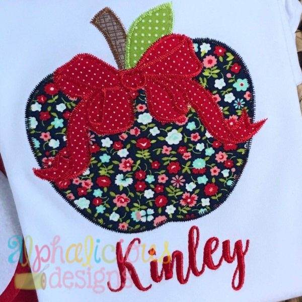 Apple with Bow-Zigzag